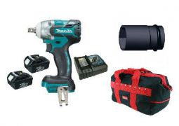 Makita DTW281RFE 18v LXT Impact Wrench 2 x 3.0Ah Batteries, 21mm Socket & Bag - £299.99 INC VAT